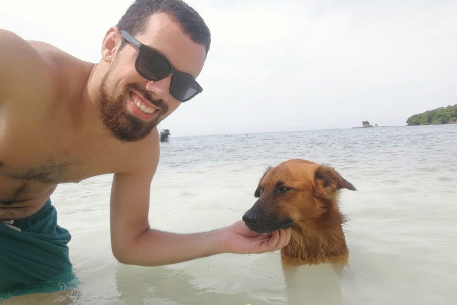 Strand Hund Baden