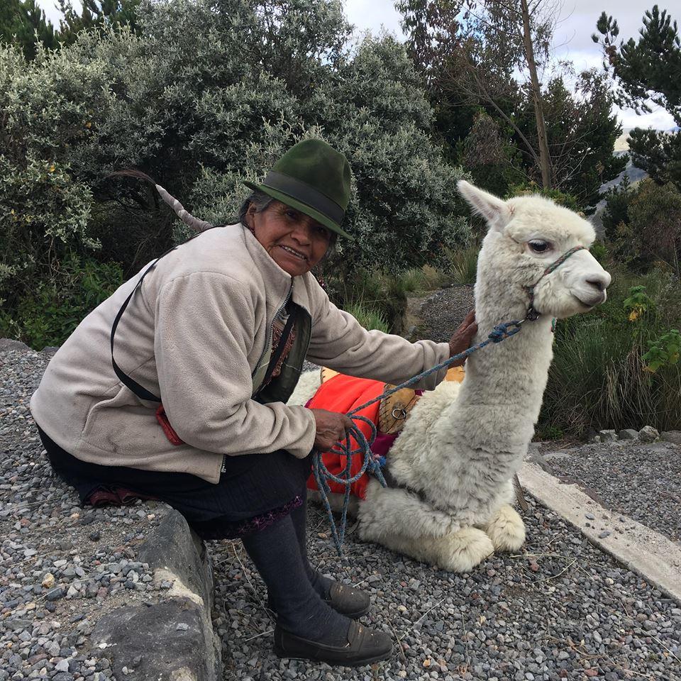 Einheimische Alpaka Hut Kleidung