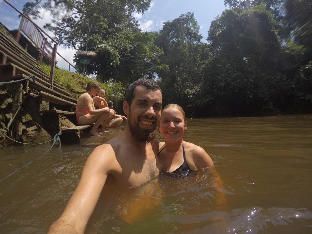 Amazonas Cuyabeno Natur Rainforest Wildlife Wasser Schwimmen