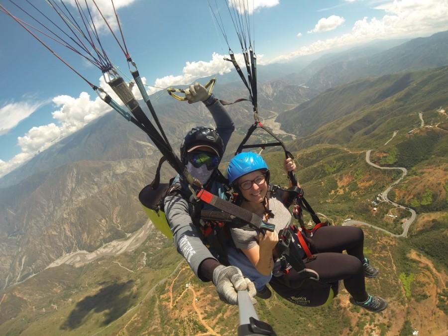 Chichachoma Canyon Wolken Canyon Fliegen Paragleiten