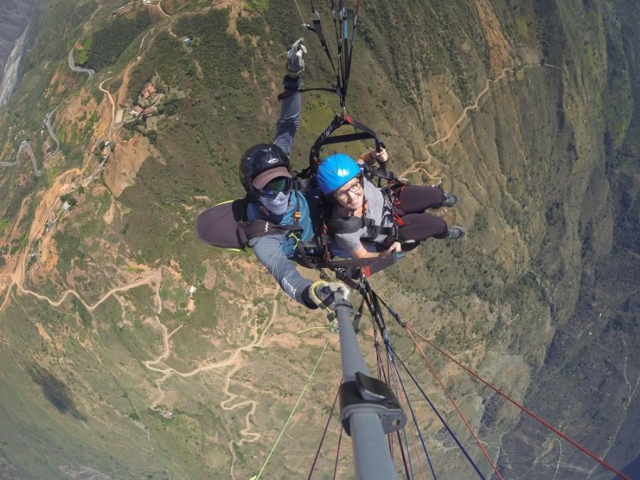 Chichachoma Canyon Paragleiten Fliegen Selfie