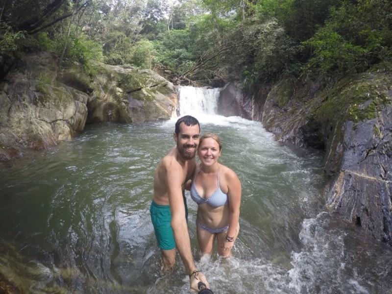 Wasserfall Selfie Pozo Azul