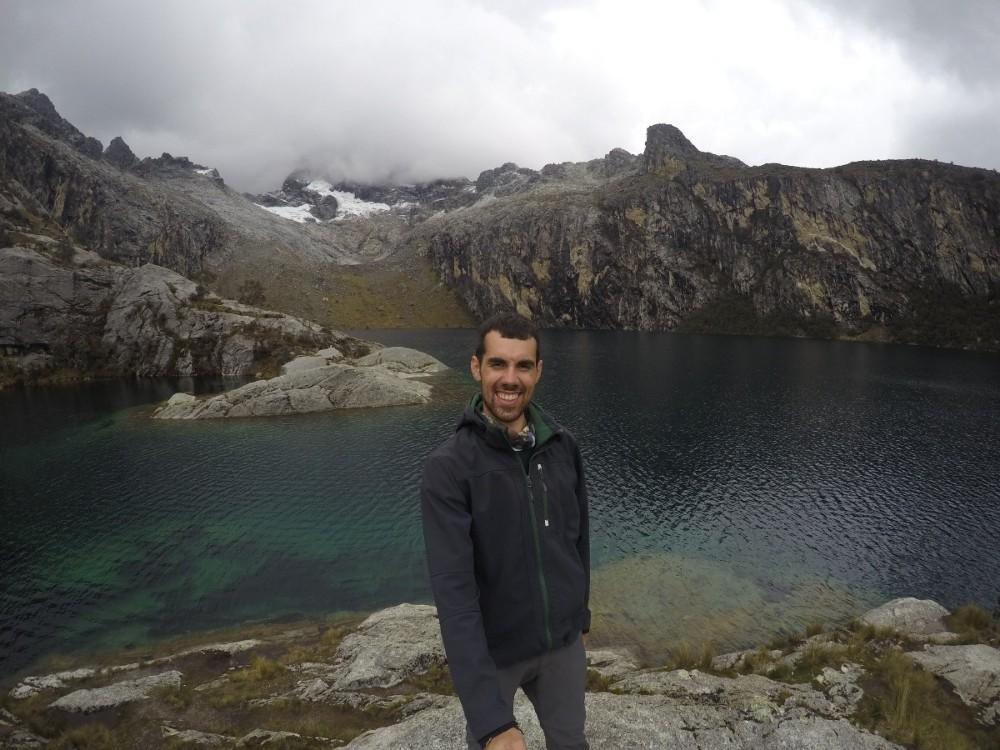 Lagune Chuchurup Selfie Berge Gebirge Gletscher See Wanderung Huaraz Peru Südamerika