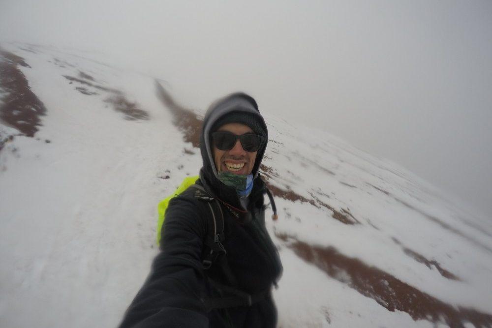 Gletscher Wandern Cotopaxi Ecuador Schnee Eis Kalt