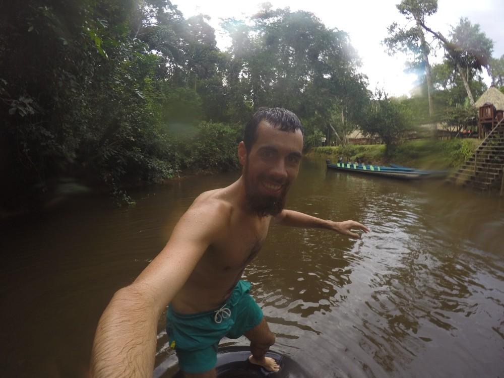 Amazonas Cuyabeno Natur Rainforest Wildlife Tubing König der Welt