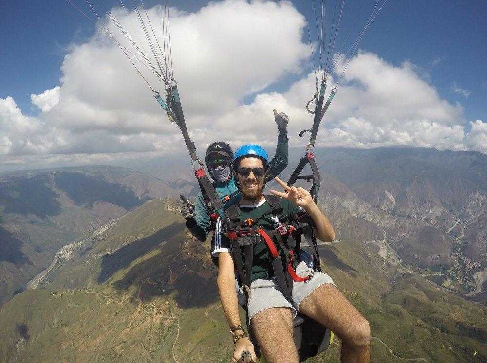 Paragleiten Selfietime Selfie Chichachoma Canyon GoPro