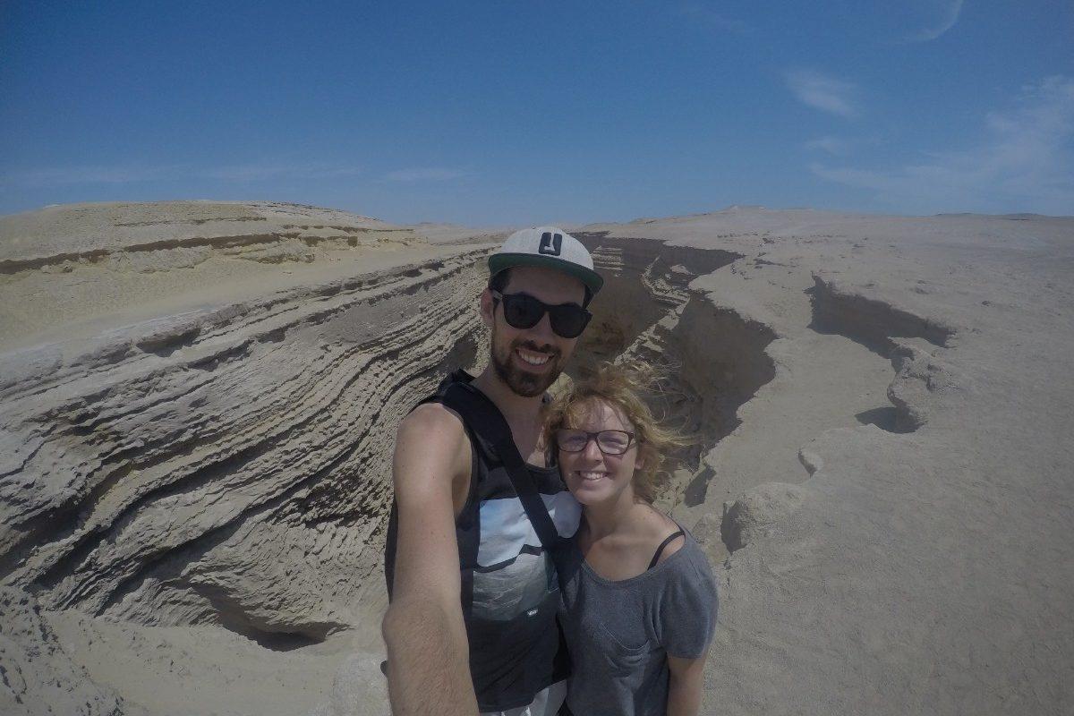 Huaccachina Ica Peru Südamerika Wüste Sand Steine Aussicht Canyon