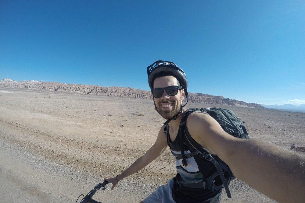 Fahrradttour Valle de Luna Wüste Mondlandschaft San Pedro de Atacama Chile Südamerika