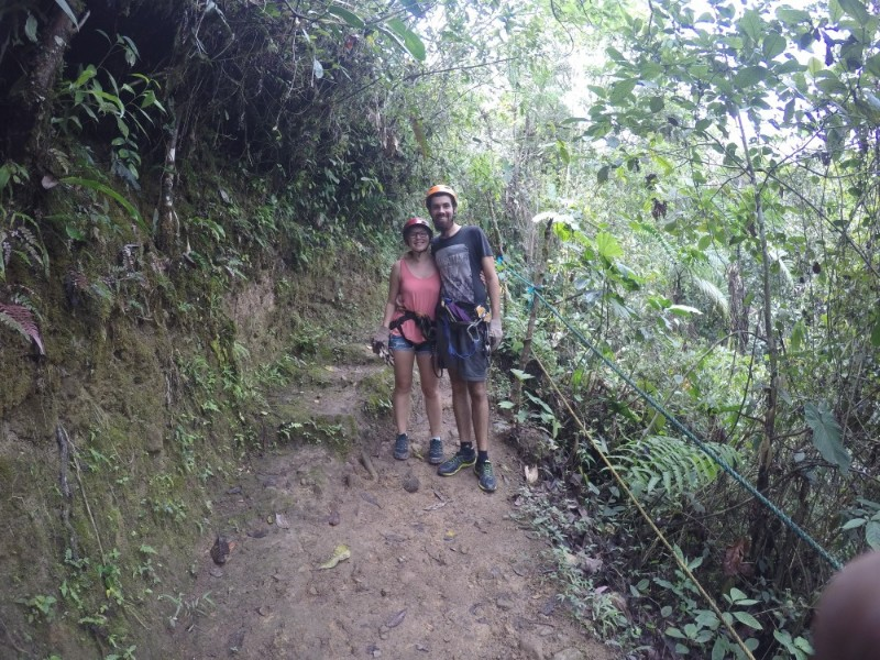 Zippling Mindo Hoch Seilbahn Abenteuer Ecuador