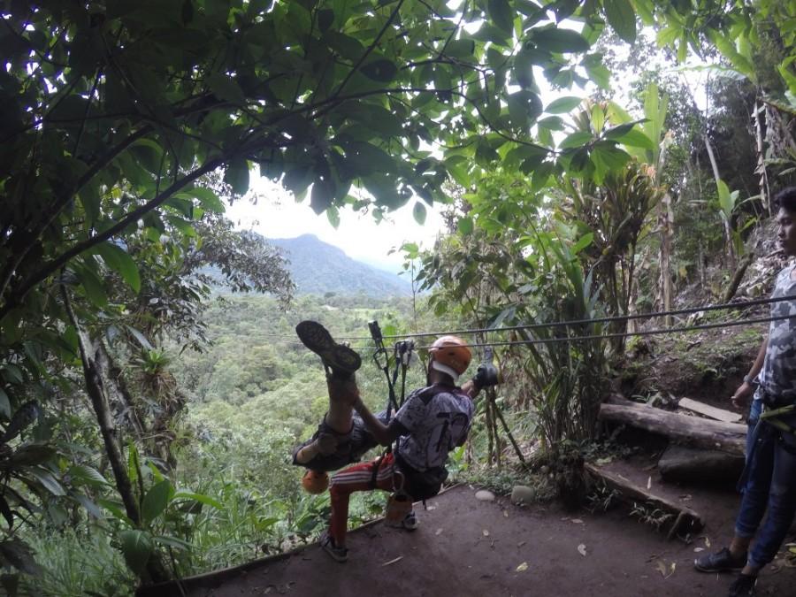 Mindo Ecuador Seilbahn Ziplining Natur Abentuer