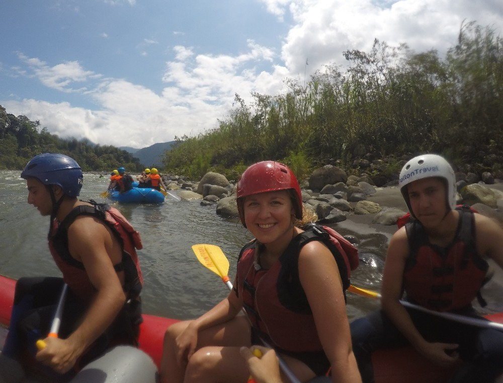 Wild Water Rafting Banos Ecuador Adventure Fun
