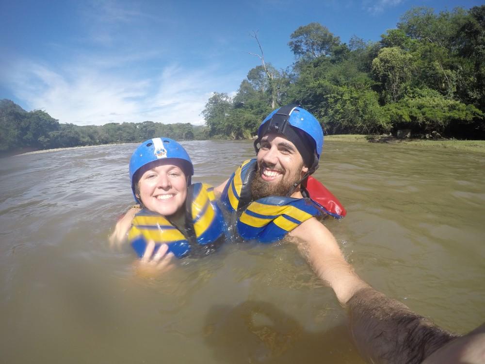 Schwimmen Wild Water Rafting Pause Pärchen