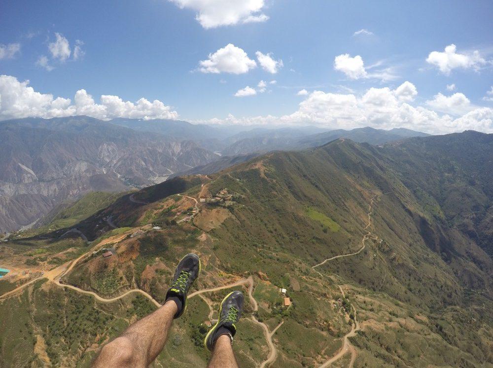 Paragleiten Beine Fliegen Berge