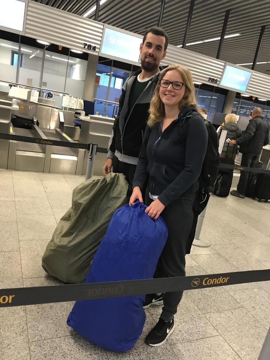 Gepäckabgabe in Frankfurt