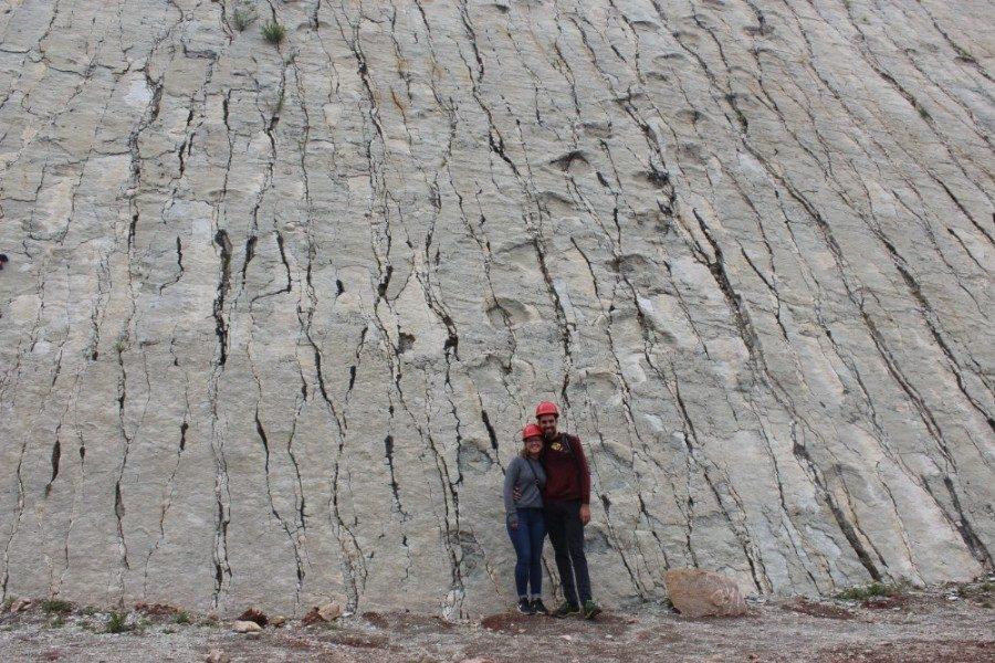 Sucre Bolivien Südamerika Dinosaurierspuren Alt Antik Fußabdrücke Dinosaurier