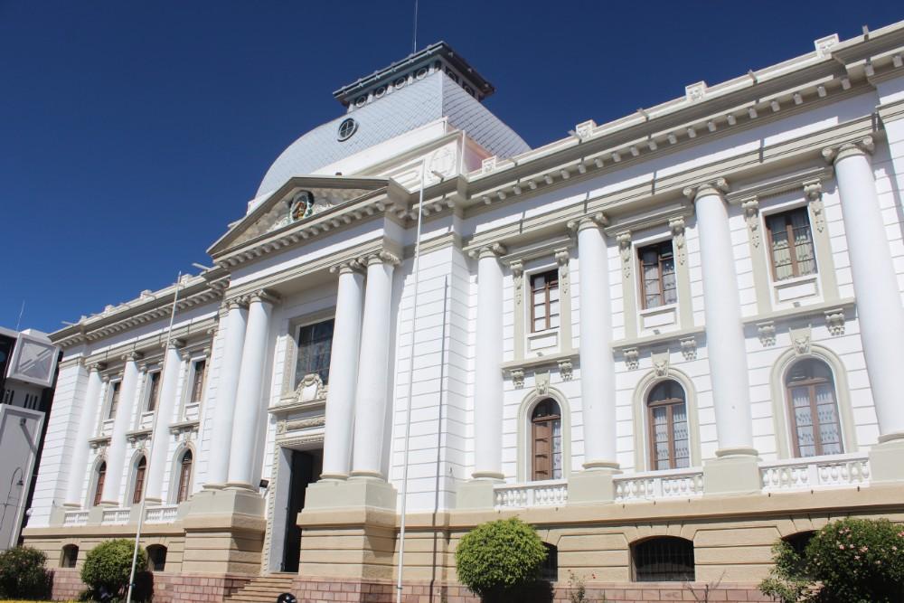 Sucre Bolivien Südamerika Gebäude Weiß Prächtig