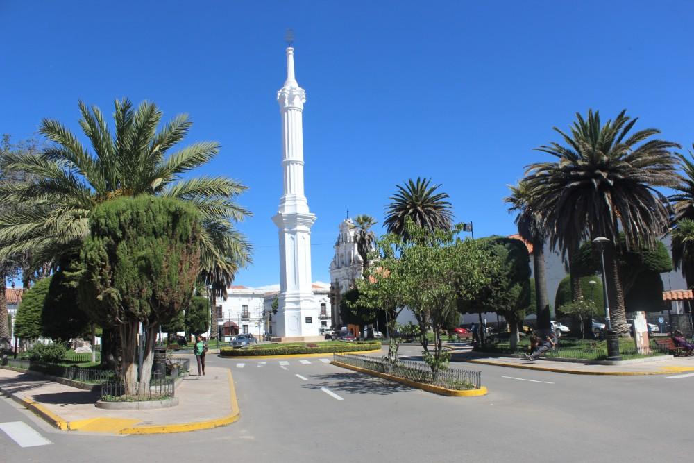 Sucre Bolivien Südamerika Platz Straße Weiß Natur Hübsch Prächtig
