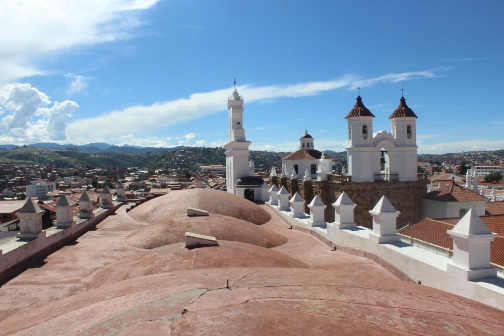 Sucre Bolivien Südamerika Stadt Ausblick Dächer Kirche Türme