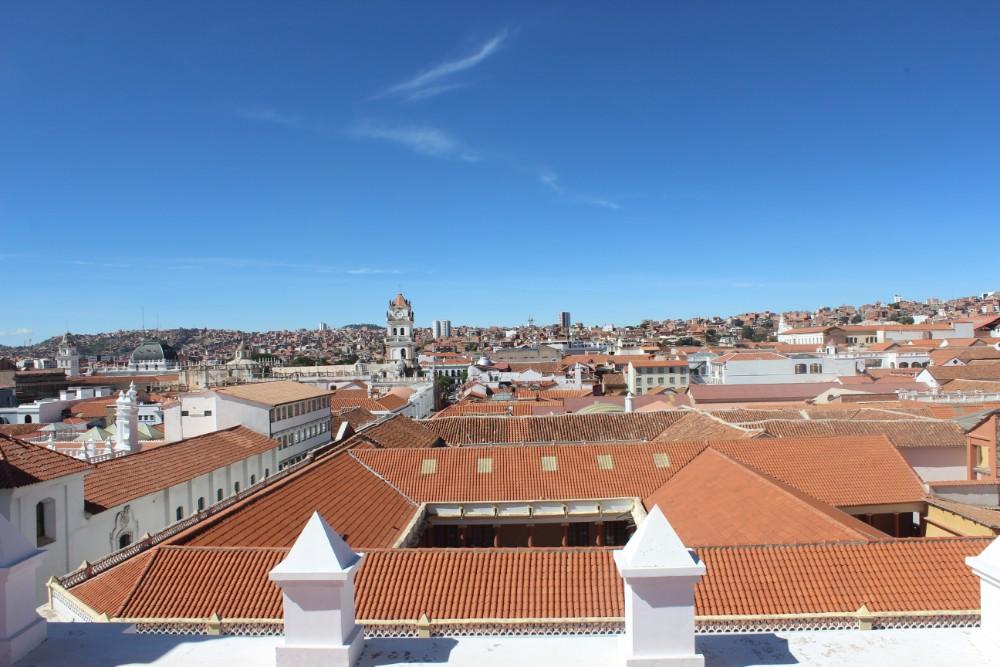 Sucre Bolivien Südamerika Stadt Ausblick Dächer