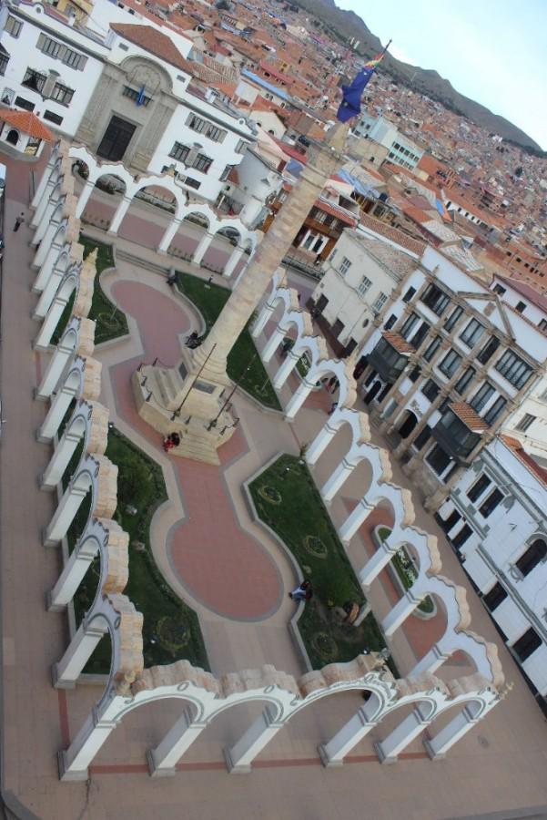 Hauptplatz Platz Plaza de Armas Potosi Bolivien Südamerika Stadt