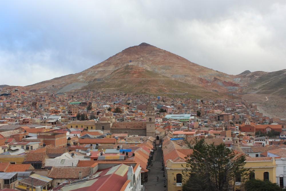 Potosi Bolivien Südamerika Stadt Berg Aussicht Mine