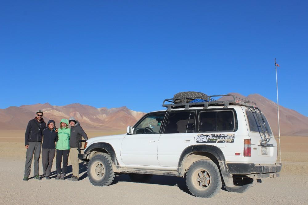 Dali Wüste Berge Wüste Sand Bolivien Südamerika Jeeptour Jeep