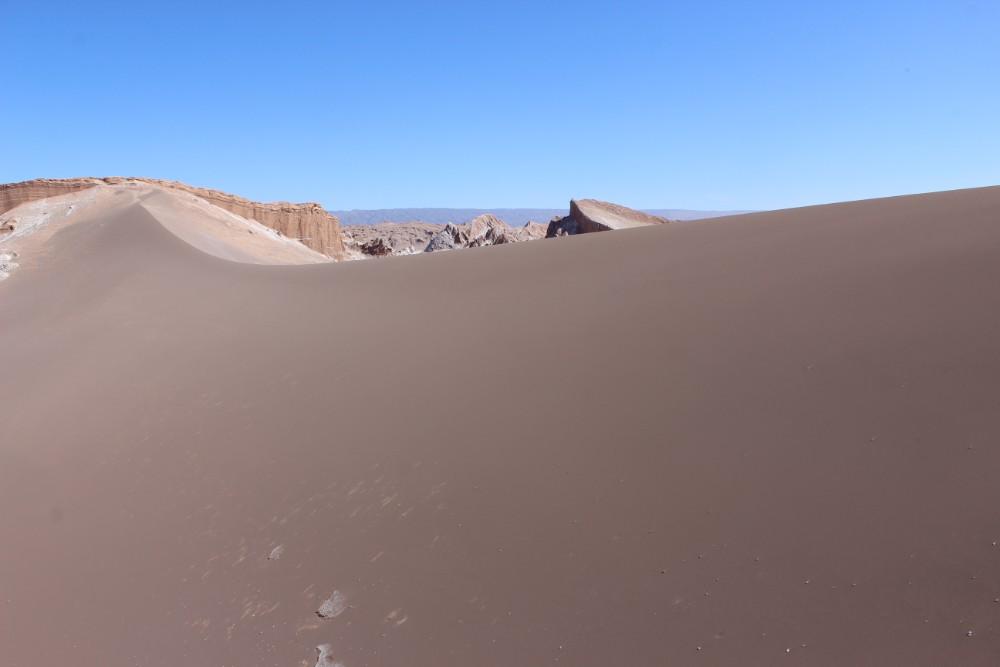 Valle de Luna Wüste Mondlandschaft San Pedro de Atacama Chile Fahrradttour Südamerika Sanddüne