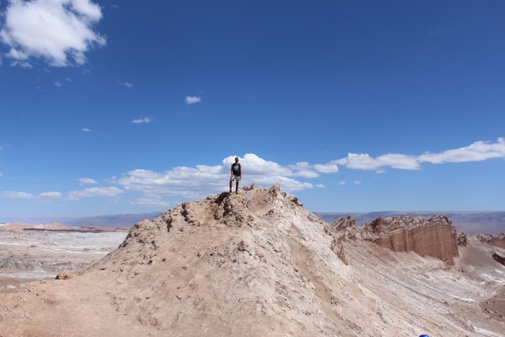 Valle de Luna Wüste Mondlandschaft San Pedro de Atacama Chile Fahrradttour Südamerika Felsen Canyon Gesteinsformationen
