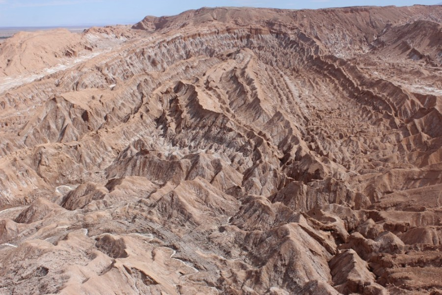 Valle de Muerta Wüste Mondlandschaft San Pedro de Atacama Chile Fahrradttour Südamerika Felsen Canyon Gesteinsformationen
