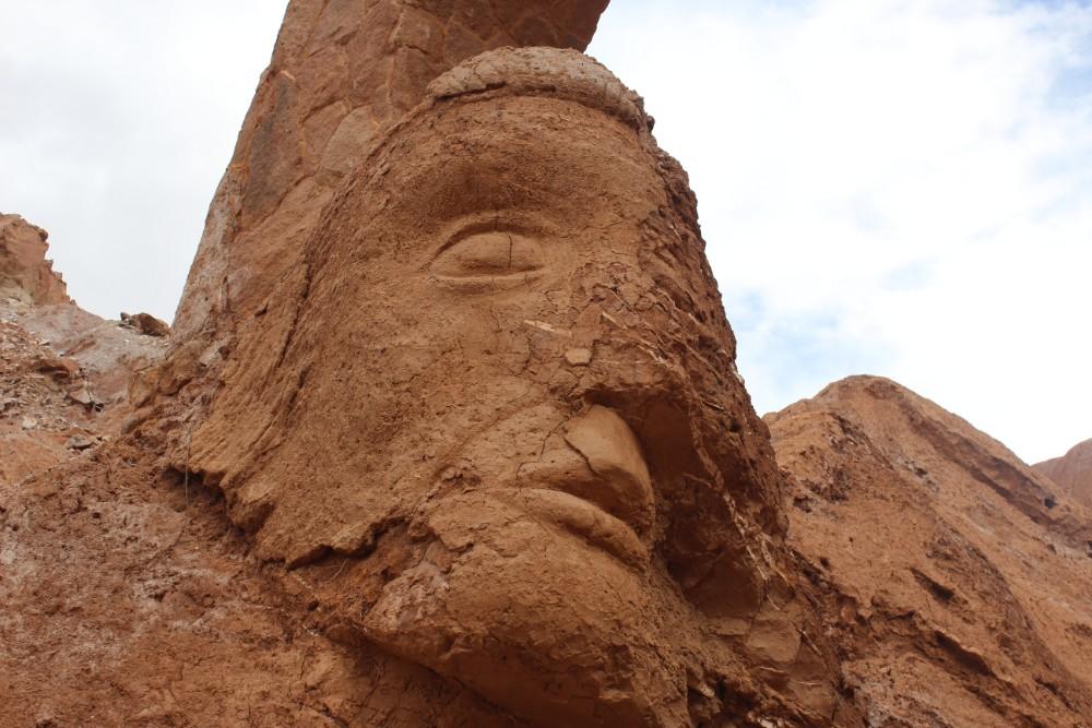 Steinernes Gesicht pukara de quitor prähistorisch alt Sehenswürdigkeit tor Gesicht