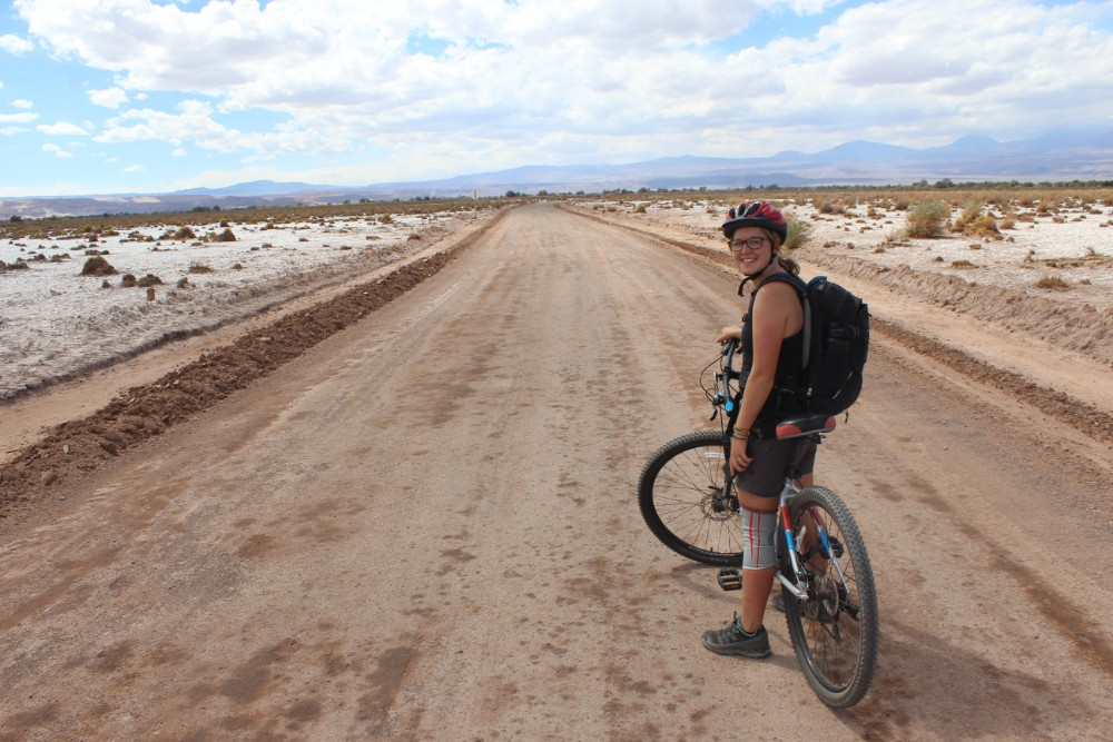 Fahrradttour Laguna Cejar Wüste Mondlandschaft San Pedro de Atacama Chile Südamerika