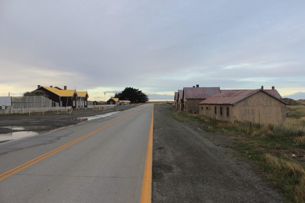 Häuser Geisterstadt Feuerland Chile Patagonien Süden Südamerika