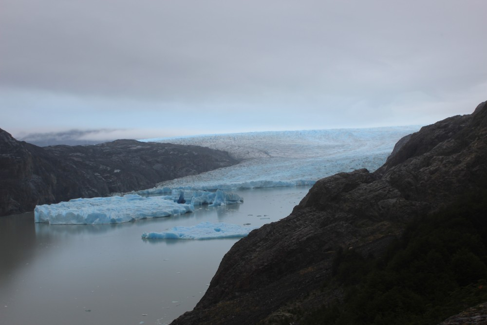 Gletscher-Grey-am-Morgen