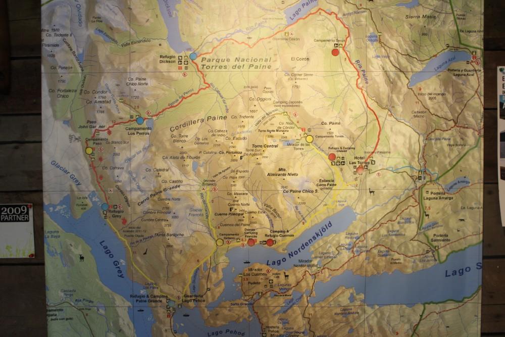 Torres-de-Paine-Karte