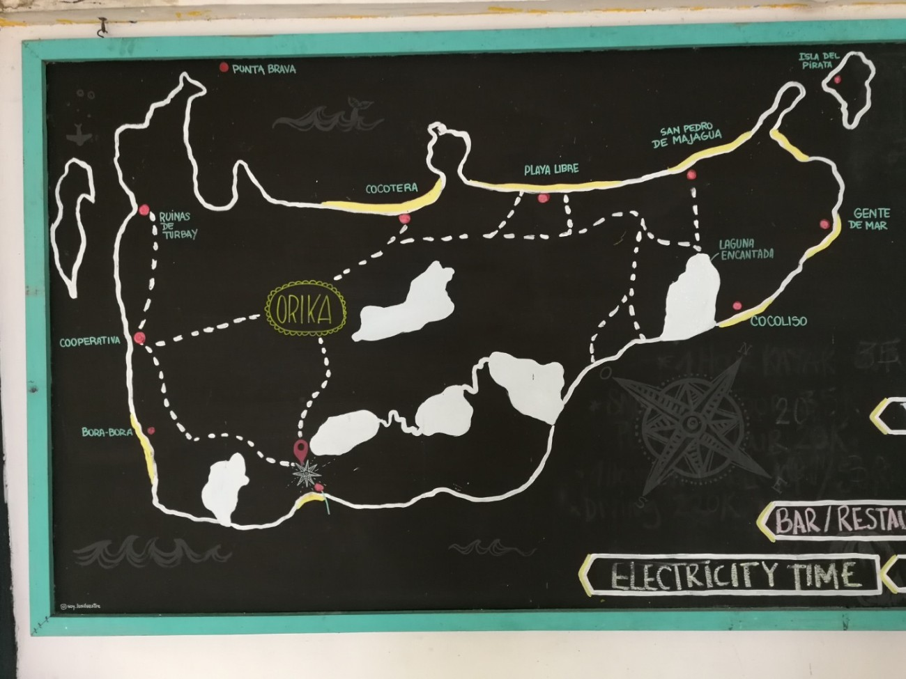 Isla Grande Karte