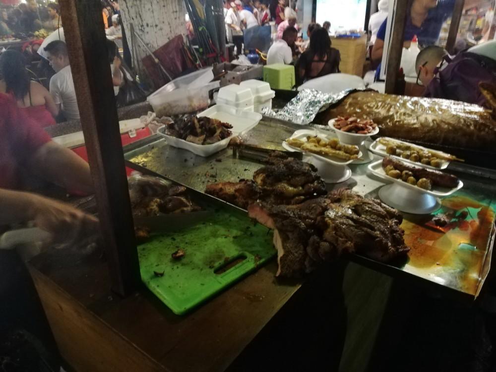 Steak Essen Weihnachtsmarkt