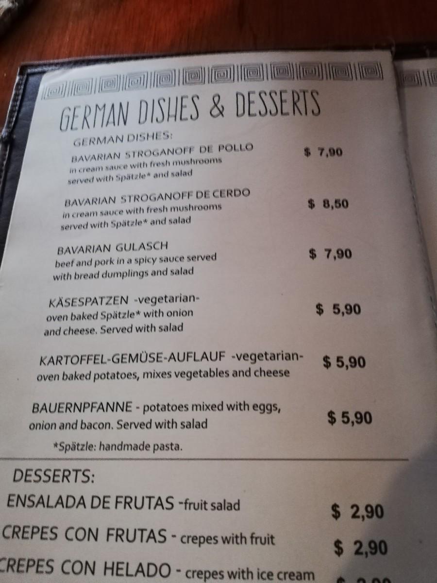Izchayluma Essen Deutsch Hostel Speisen