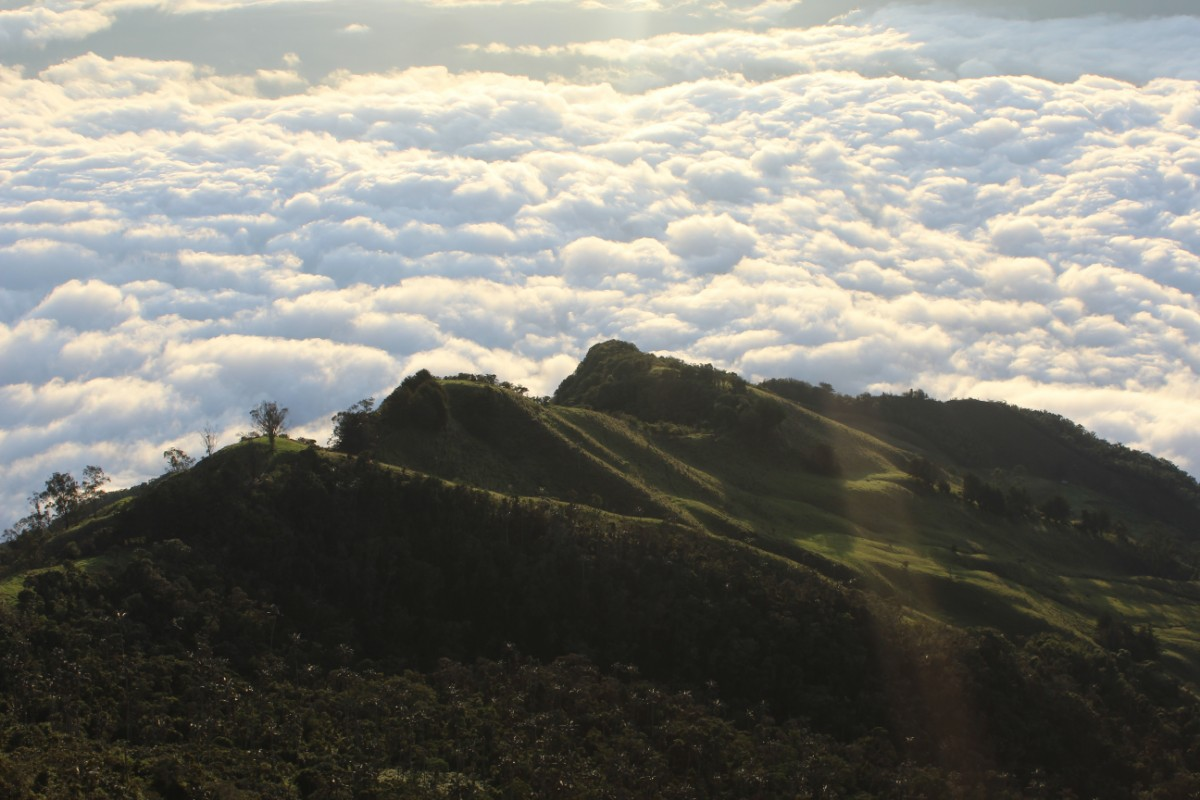 Berge Wolken Natur