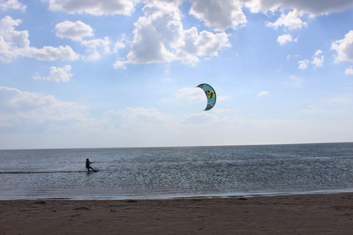 Kitesurfen Cabo Meer Wind Surfen
