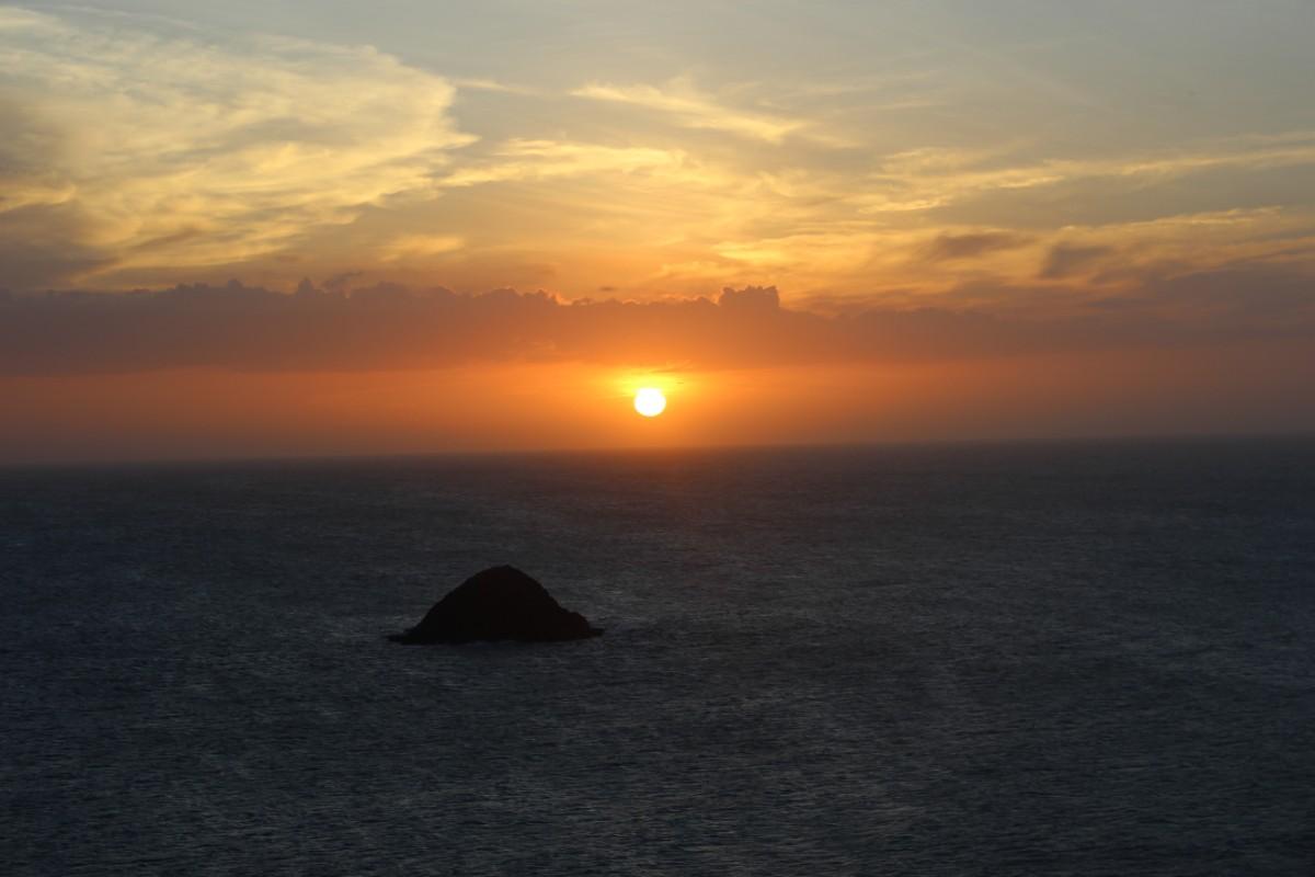 Sonnenuntergang Meer Insel