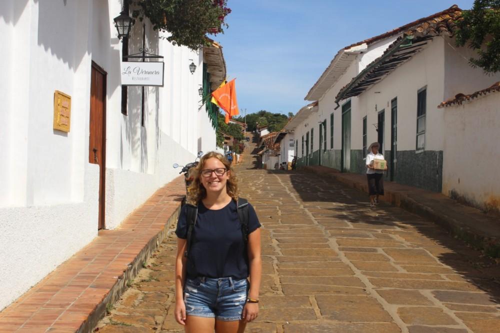 Barichara Flanieren Straßen Häuser