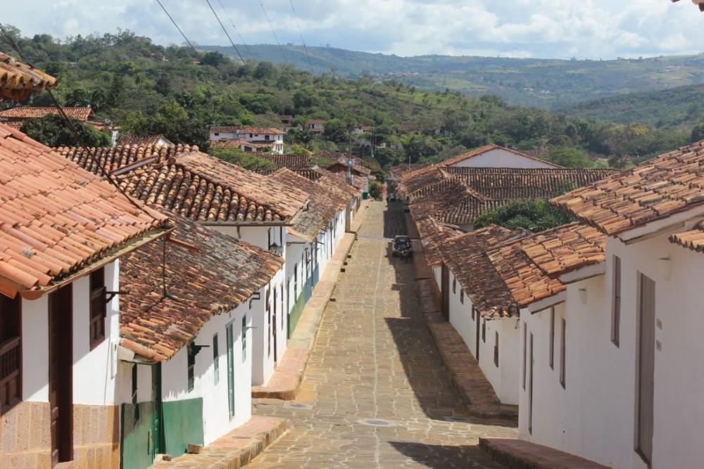 Barichara Straßen Häuser