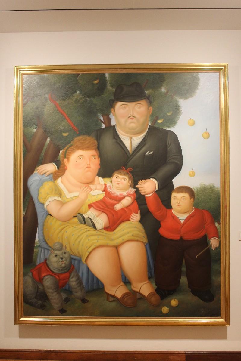 Una Familia Fernando Botero Gemälde Museo del Arte Bogota