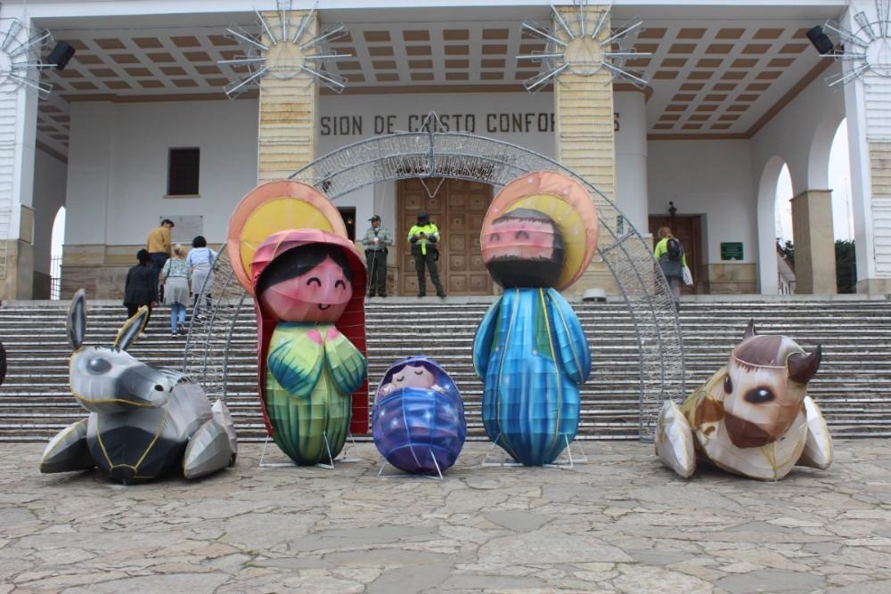 Kloster Weihnachtsdekoration Berg Bogota