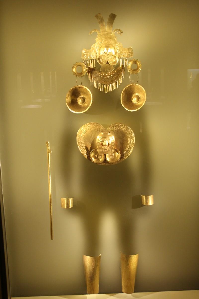 Gold Schmuck Indigene Völker Bogota