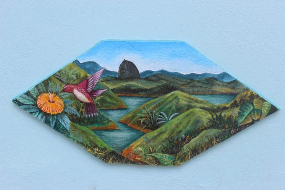 Gemälde Kunst Natur Hauswand