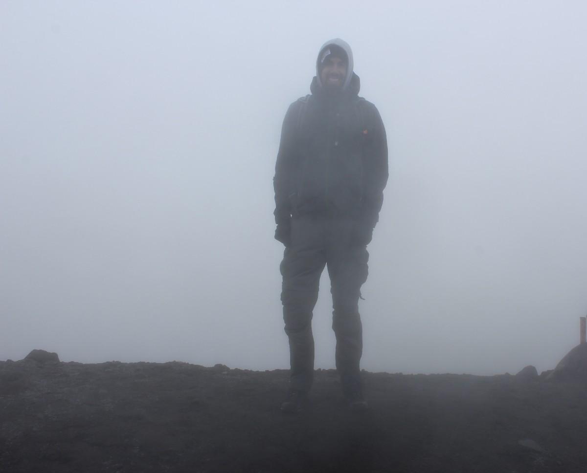Vulkan Puricé Schlechte Sicht Nebelig