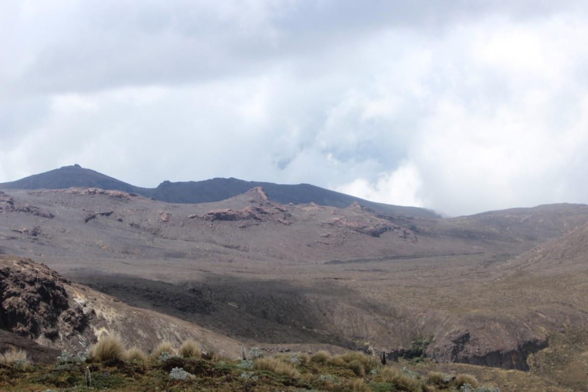 Vulkan Puricé Aussicht Wolkig