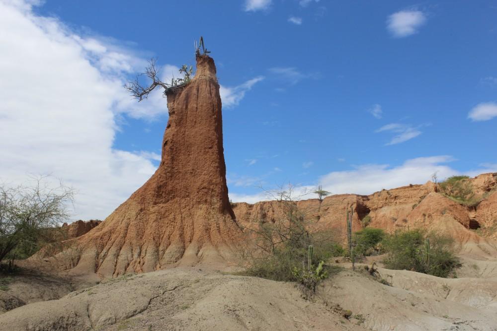 Tatacoa Wüste Hügel Felsen Natur