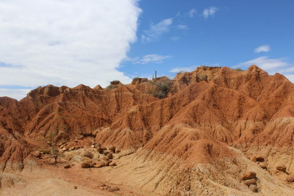Wüste Felsen Blauer Himmel Natur Farben Rot
